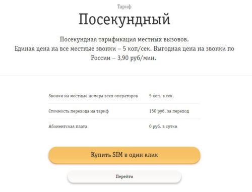 Покупка SIM-карты на сайте