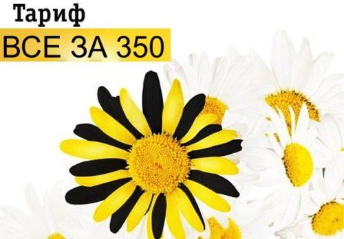 Тариф «Все за 350» от Билайн