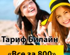 «Все за 800» от Билайн: еще больше возможностей за комфортную цену